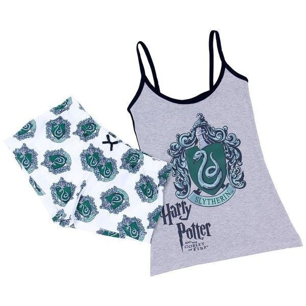 Ladies Pyjama Set Nightwear Slytherin Harry... (28 AUD) ❤ liked on Polyvore featuring intimates, sleepwear and pajamas