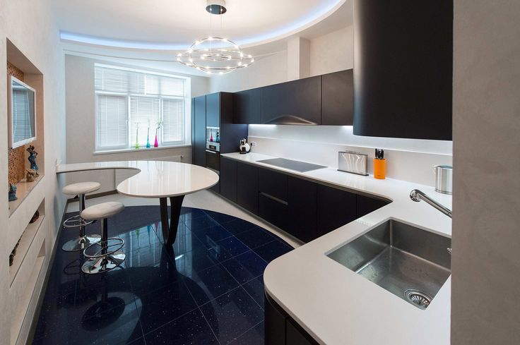 Snaidero installation in a modern apartment in Russia. The kitchen installed is Ola 20 designed by Pininfarina. #design #modern #home #house #kitchen #apartment #flat #inspiration #decoration #worktop