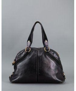 Yves Saint LaurentPre-owned: black leather \u0026#39;Muse\u0026#39; vintage shoulder ...