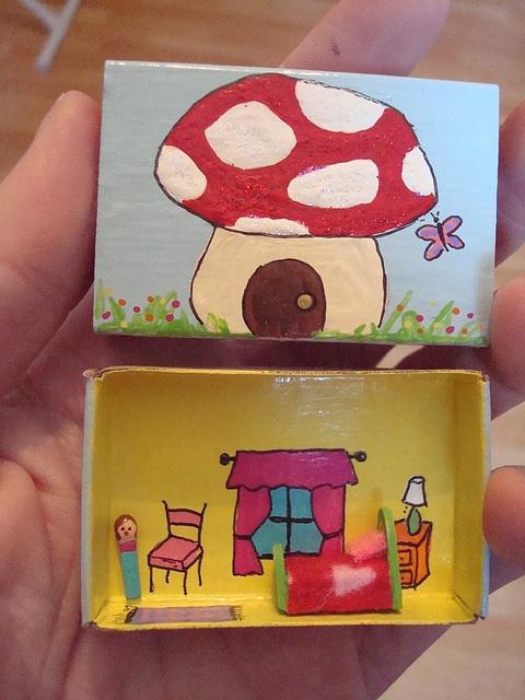 maak een kabouterhuisje van een doos!