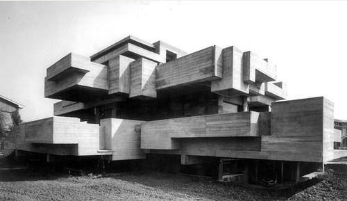 Villa Ronconi, Rome, Saverio Busiri Vici, 1970-73