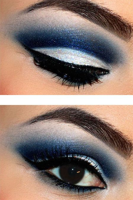 New Winter Eye Make Up Looks Trends Ideas 2013 2014 2 New Winter Eye Make Up Looks, Trends & Ideas 2013/ 2014. daring blue fades like the ocean