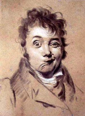 "Louis-Leopold Boilly self-portrait drawing, 1823. From ""100 Self-Portrait Drawings from 1484 to Today"""