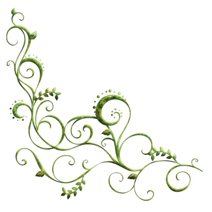 Scrollwork with dots and leaves
