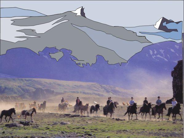HORSETREKKING OVER DE HOOGVLAKTE