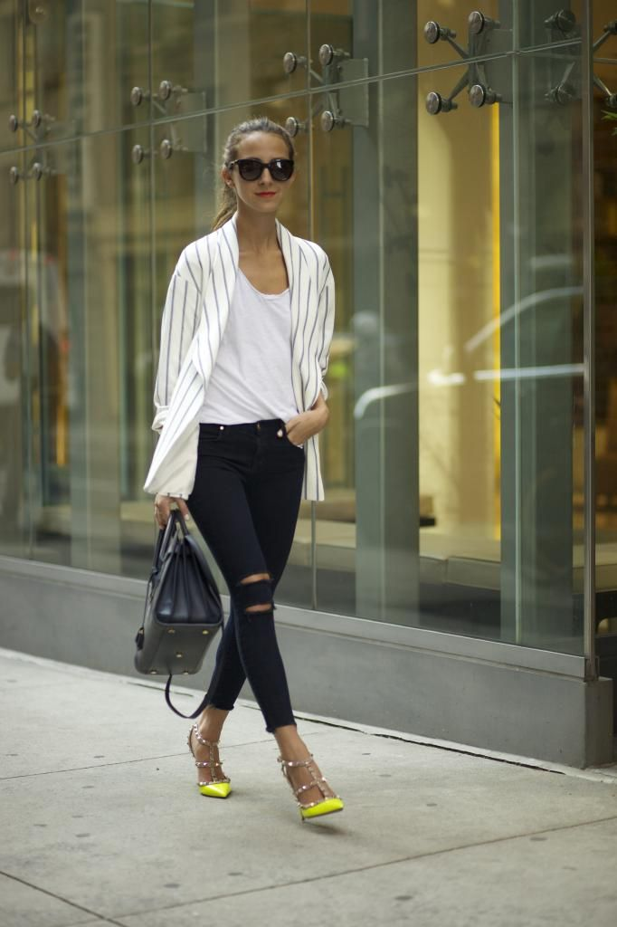 Jamie Chung in her J BRAND 8227 Photo Ready Ankle Skinny ...