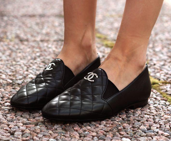 Nina Leather Moc Toe Flats Shoes