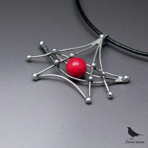 Japonská bárka (Korál) - náhrdelník