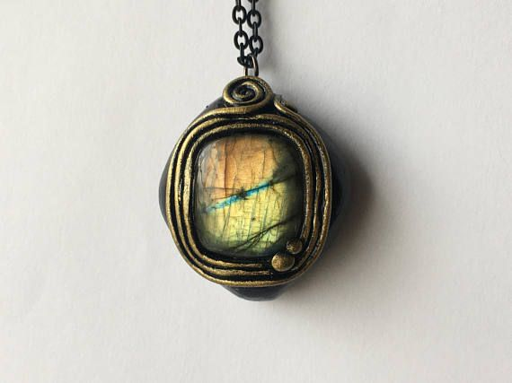 TRANSCENDENCE COLLECTION  Egyptian Labradorite Pendant #diy #crafts #crystals #frequencygear #TheCosmicGarden