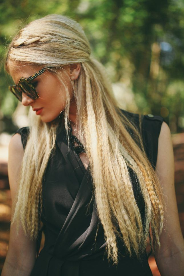 Bring back the classic '90s crimp, plus a modern twist, by incorporating a pinned-back boho braid for a sweet-meets-romantic look.