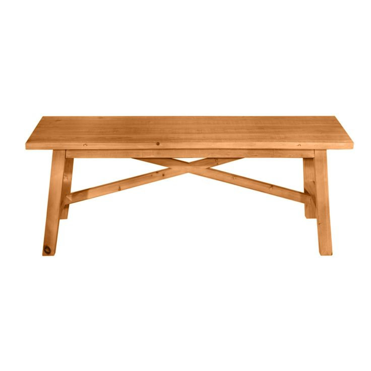 """Fir Bench in Brown 48""""  