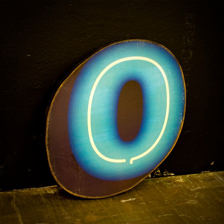 Faux Neon Wood Letter O Cool Light 35 00 Via Etsy