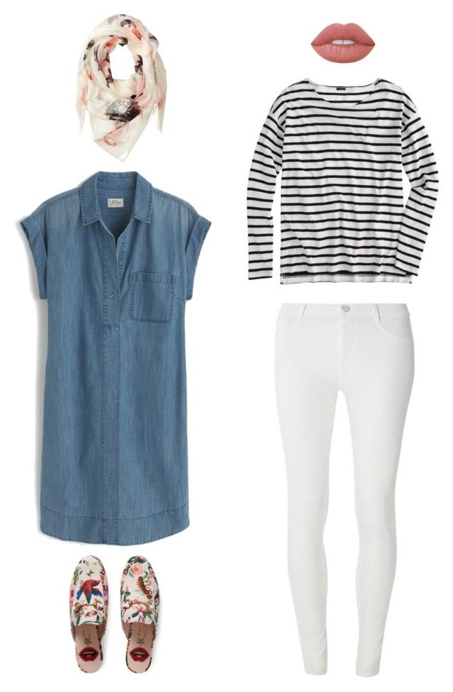 """Untitled #87"" by priliscaa on Polyvore featuring J.Crew, Dorothy Perkins, Alexander McQueen, Gucci and Lime Crime"