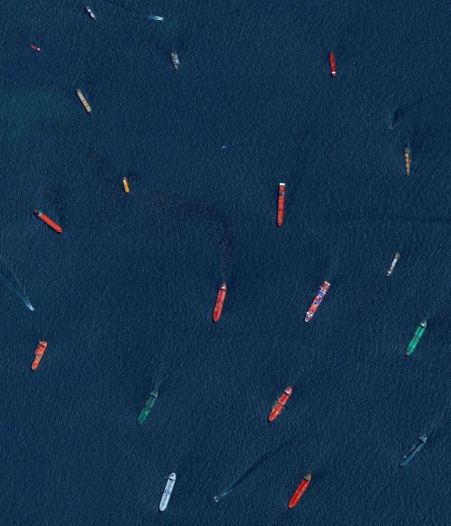Picture of the day for November 26 2016 at 04:10PM from 'Daily Overview;  Cargo ships and oil tankers wait outside the entrance to the Port of Singapore. This is one of my favorites from Overview which is on sale right now for only $18.49 on Amazon when you use the coupon code HOLIDAYBOOK here:  http://ift.tt/2fPT1X9  Thats 54% off and certainly the lowest price you will find before the holidays! The Port of Singapore is the worlds second-busiest port in terms of total tonnage shipping a…