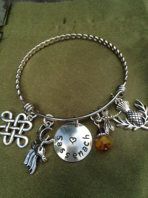 Sassenach Bracelet by PersonalStampJewelry on Etsy