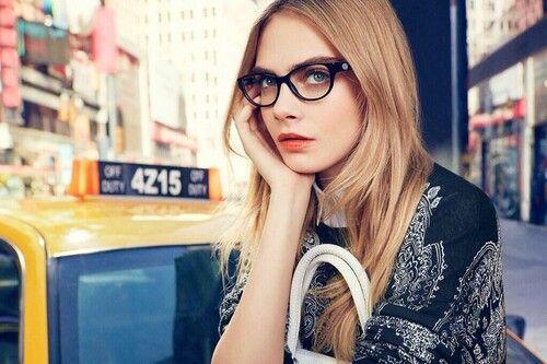 Cara Delevingne DKNY 2014 S/S glasses