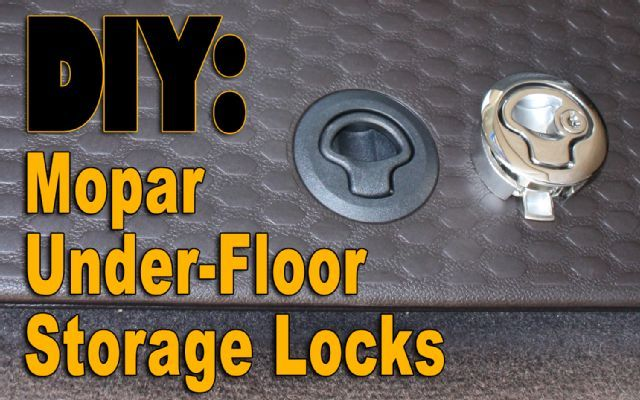 ram 1500 floor storage | Do It Yourself: Mopar Under-Floor Storage Locks