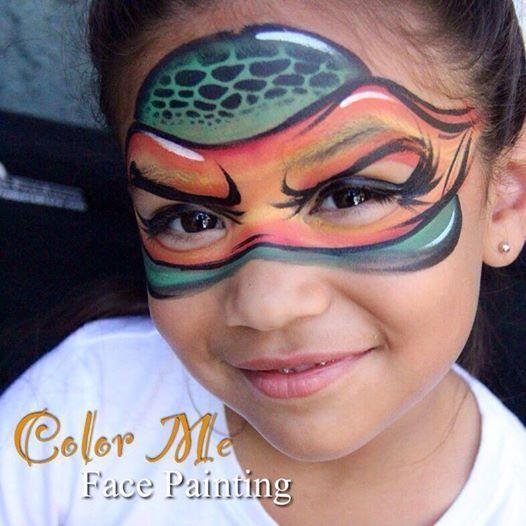 Teenage mutant ninja turtle Face Painting - Color Me Face Painting