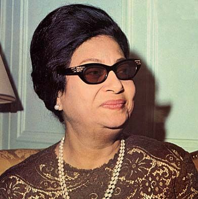 Umm Kulthum the Incomparable Egyptian Songstress, and Actress,