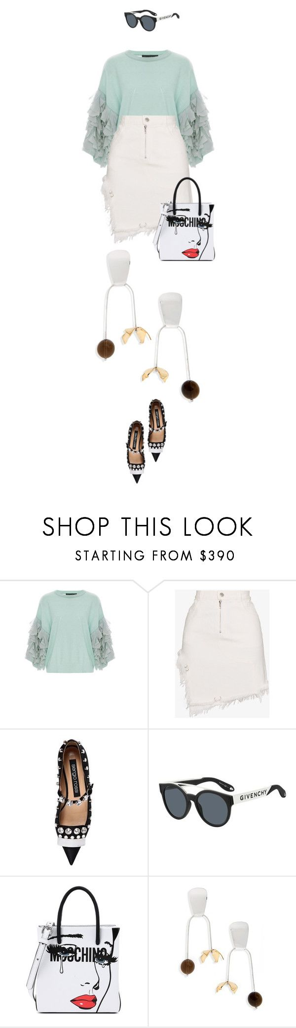 """eva2191"" by evava-c on Polyvore featuring Tabula Rasa, Sandy Liang, Sergio Rossi, Givenchy, Moschino and FARIS"
