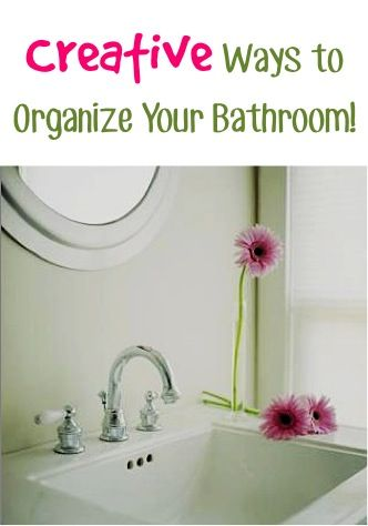 10 Creative Ways to Organize Your Bathroom! ~ from TheFrugalGirls.com ~ get that bathroom organized for good with these simple tips and tricks! #bathrooms #thefrugalgirls