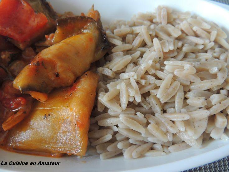 La cuisine en amateur de Maryline: Roulés d'aubergines mozzarella et pâtes aux algues...