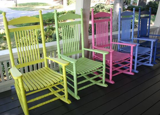 roundup outdoor rocking chairs high and low