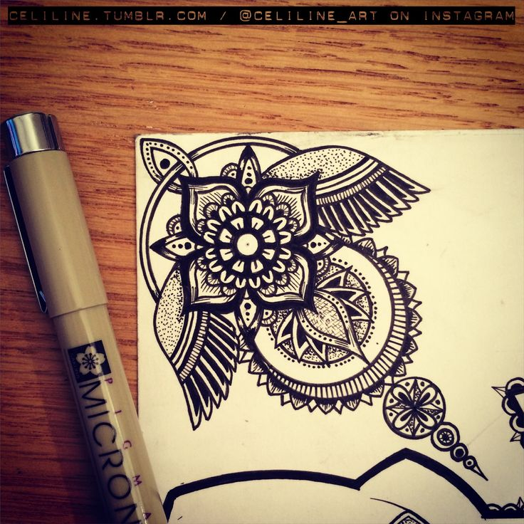 Work in progress zentangle doodle drawing moleskine illustration sketchbook