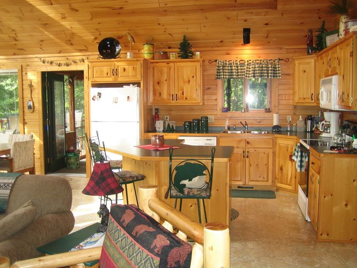 Small Log Home Kitchens: Beautiful Kitchen Rustic Cabin Kitchen Ideas Small Log Cabin
