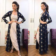 "246.3k Likes, 1,299 Comments - Parineeti Chopra (@parineetichopra) on Instagram: ""Indian with a twist!!! ☂️!! In @payalsinghal for Kapil last night!! Thanks ladyy @sanjanabatra…"""