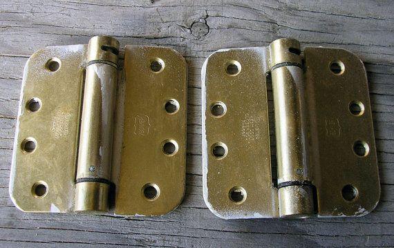 Swing Door Hinges Lot of 2 | Vintage Antique | Architectural, Industrial, Vintage Hardware | Remodeling | Restoration #767