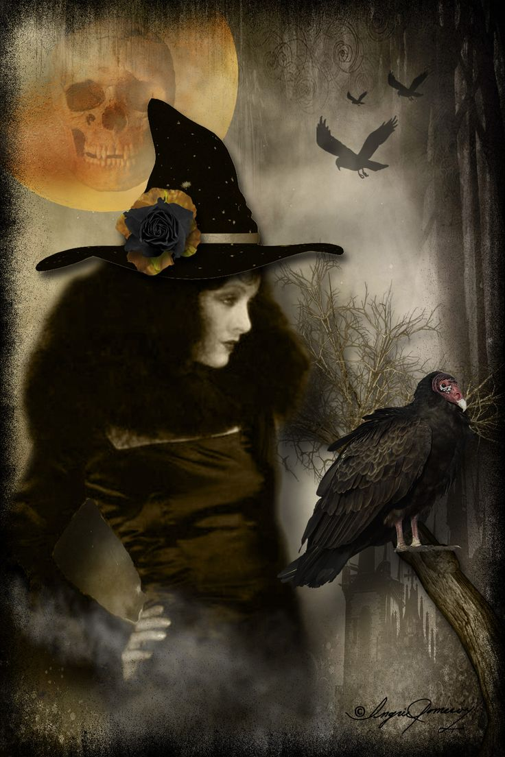 "Magick Wicca Witch Witchcraft:  #Witch ~ ""Halloween Diva,"" by Ingrid Pomeroy."