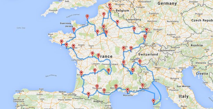 On a mis au point le road trip optimal pour visiter la France --- ca passe par ma ville!!