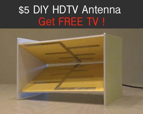 5 diy hdtv antenna get free tv pins pinterest tvs