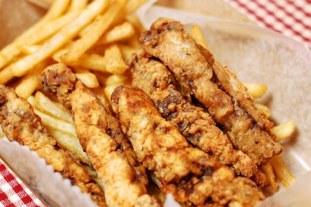 Finger Steaks - Simply strips of steak that are battered and deep fried. Deep fried steak... Just sit there and let that marinate in your brain for a minute.