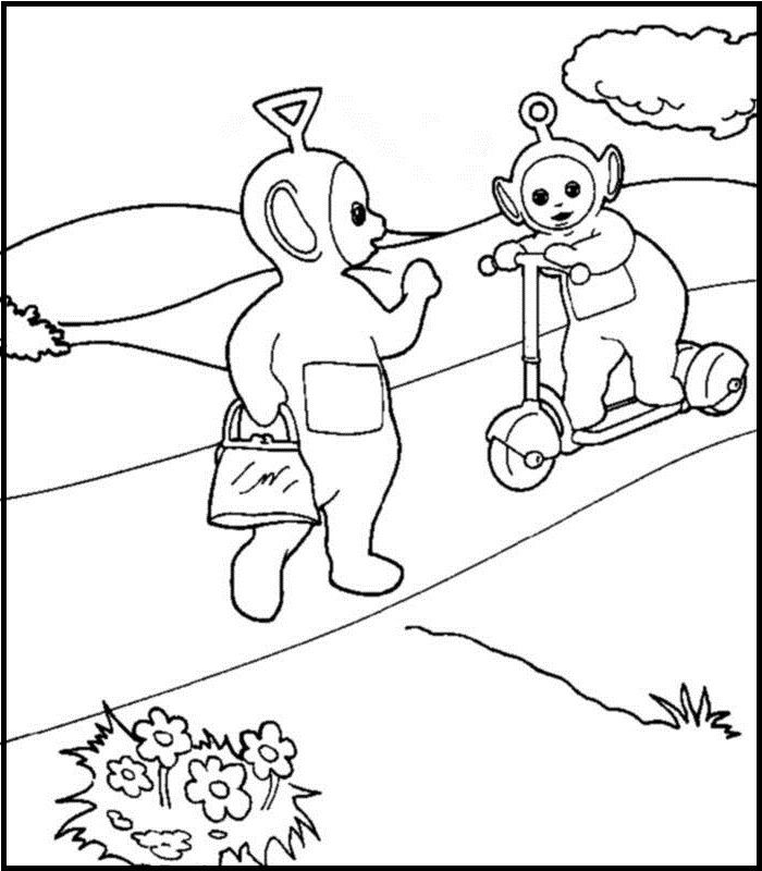 meet po teletubbies tinky winky coloring picture for kids - Teletubbies Dipsy Coloring Pages