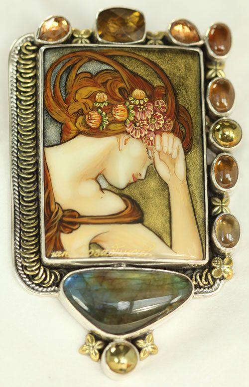 Slumbering Maiden Pin-Pendant