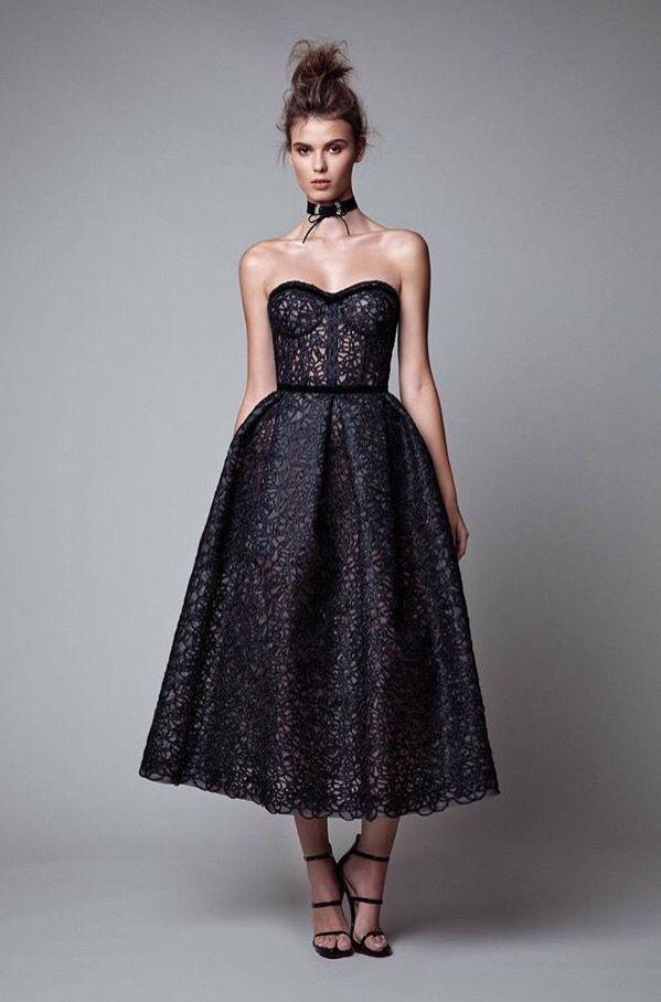 Berta Bridal black evening gown with choker