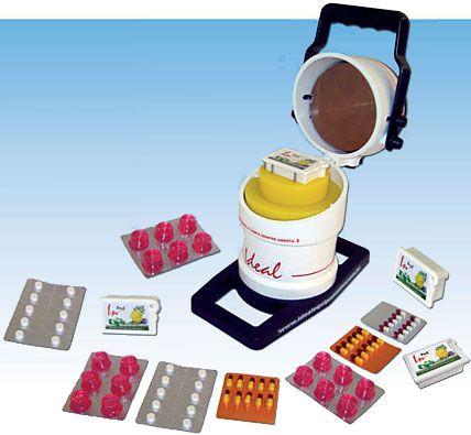 """Com a Seladora """"Inpack"""" você sela facilmente vários produtos como: • Embalagem Inpack • Balas de goma • Comprimidos sub-lingual • Cápsulas de todos os tamanhos • etc. #abridor #abridordecapsulas #ideal #equipamentos #capsulas #farmacias #farmaceuticos #laboratorios #blistadeira #inpack"""