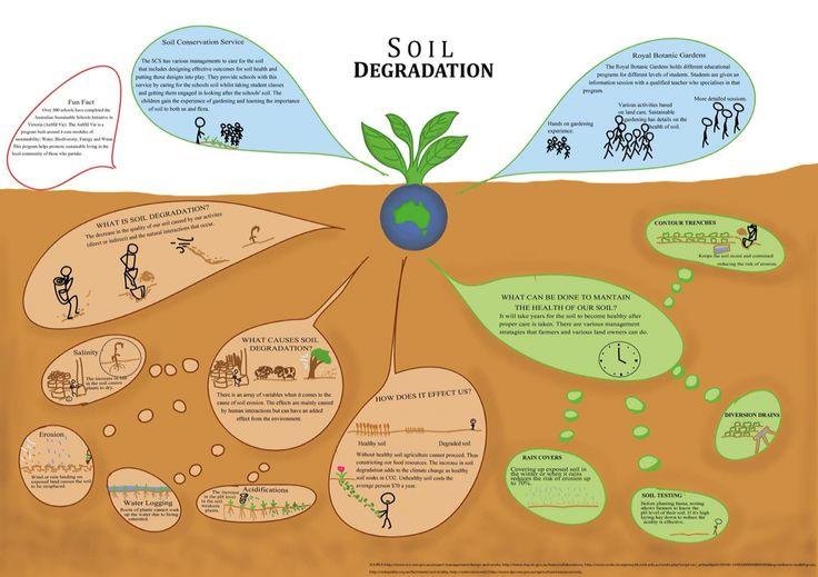 Soil Degradation Poster - Sustainable Design