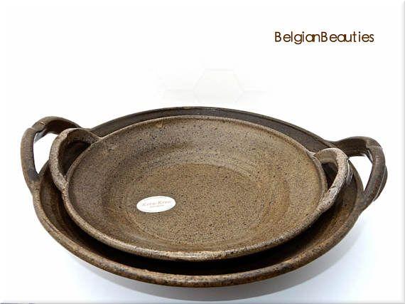 2 handgemaakte keramiek schalen Kera-Krea Paul Van Gompel
