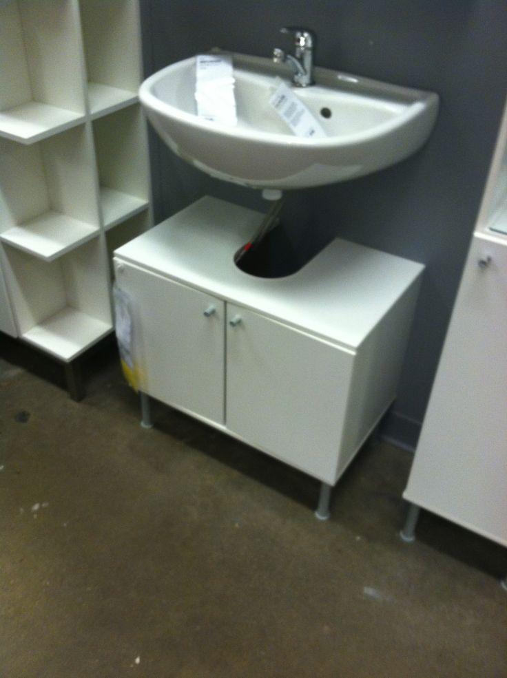 Under pedestal sink storage - Hide Pipes Under Open Bathroom Sink Ikea Morgantown