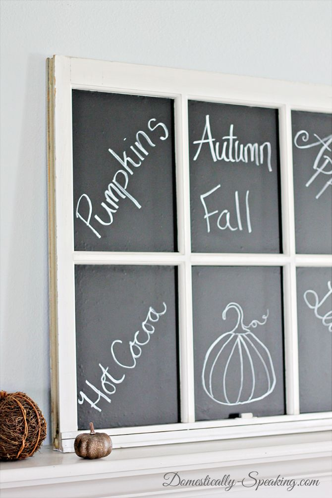 The easy way to make a chalkboard from an old window.