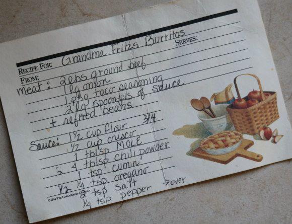 Wet Burritos - Grandma Beatty's Red Sauce Recipe