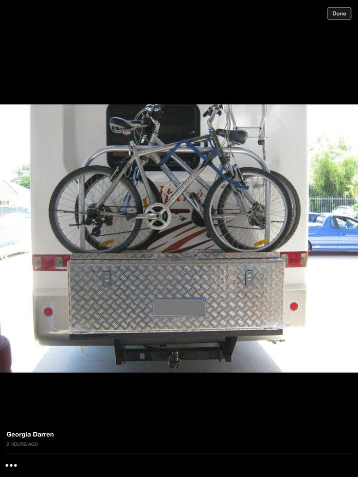 Bike Rack On Van Caravan Ideas Rv Camping Camper