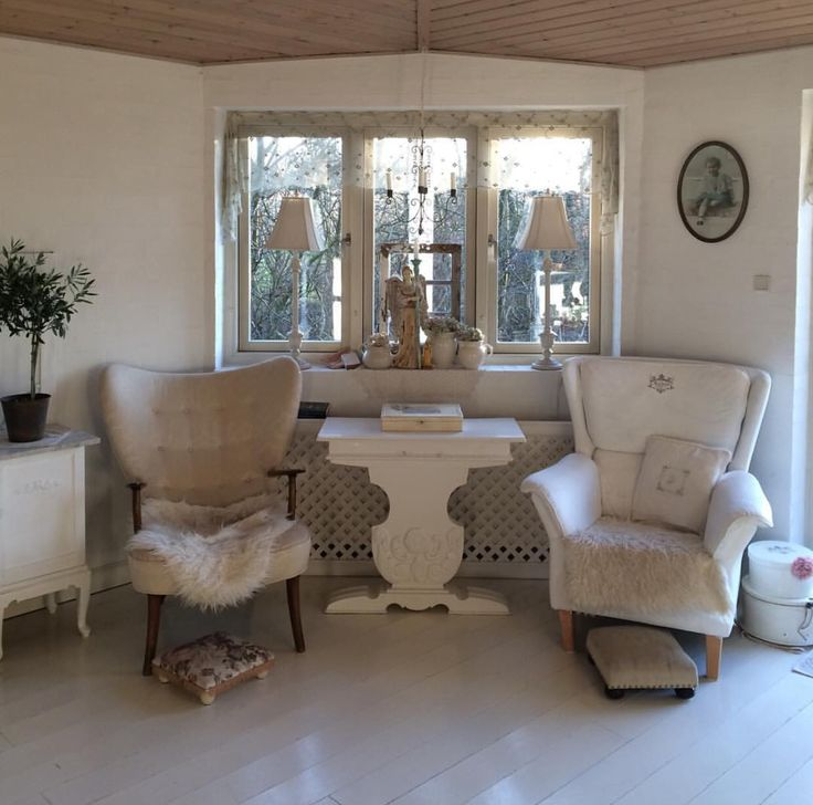 My shabby chic white romantic home