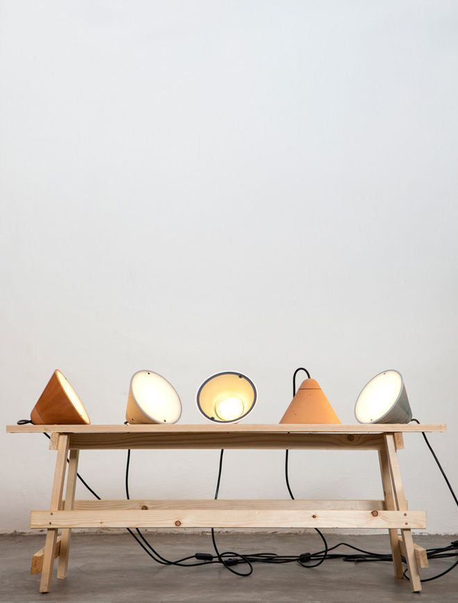Bullet Collection: Concrete Lamps by Studio Itai Bar-On + Oded Webman