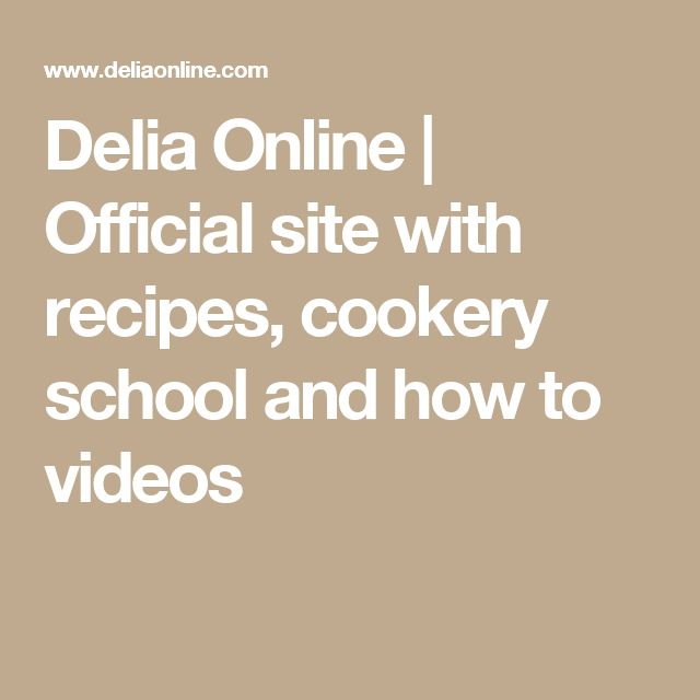 Delia Online | Official site with recipes, cookery school and how to videos