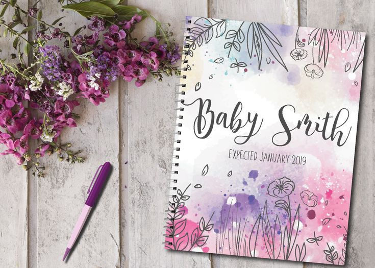 Personalized pregnancy diary with pre-arranged plans + diary format, Pretty Baby …   – Pregnancy Journals