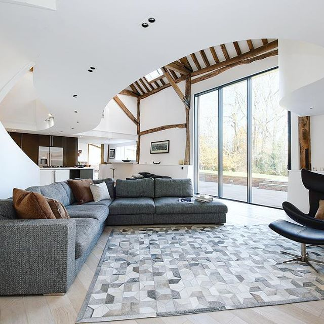 Barn conversion | perfection #homeexposure #barn #conversion #style #boconcept #design #interior #impact #granddesign #staircase #curves #country #livingetc #swirl #architecture #statement #perfection #home